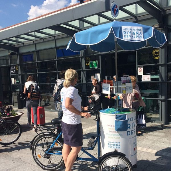Trip Wagon en action à l'Office de Tourisme d'Aix les Bains Riviera des Alpes